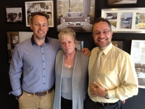 Dee Birch with Mark Smith and Dave Lee